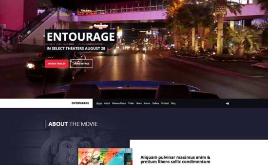 Entourage Video, Film  Cinema WordPress Theme - WPExplorer