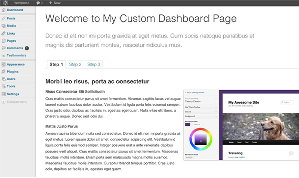 How To Create A WordPress Custom Dashboard Page - WPExplorer