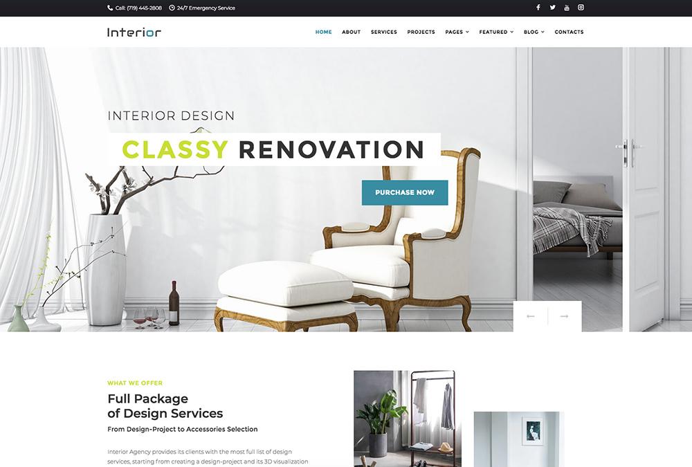 15+ Best Interior Design Architecture Themes for WordPress - WPExplorer