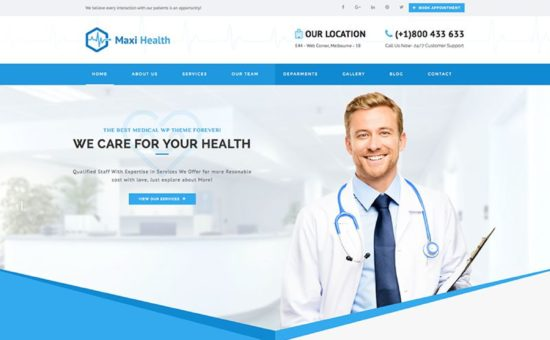 Maxi Health Responsive Medical WordPress Theme - WPExplorer