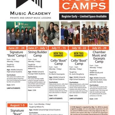 WPMA 2016 Summer Camps Poster