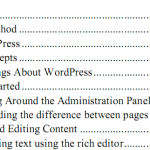WordPress 2.7 User Guide In PDF