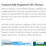 GPL Commercial Theme Page Now On The Repository