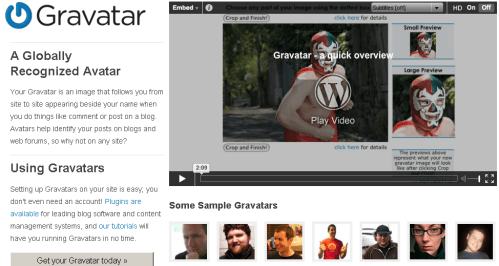 Gravatar gets a new look