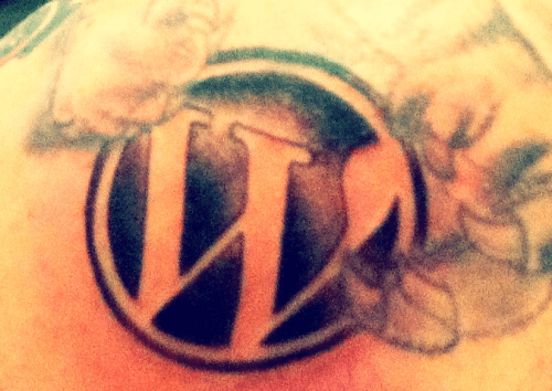 WordPress Logo Tattoo