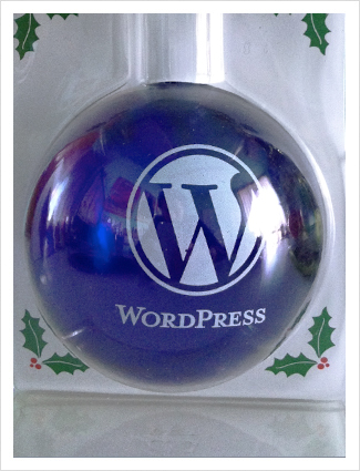 WordPress Blue Ornament