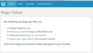 WordPress.com Reader Tab