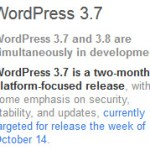 WordPress 3.7 Development Schedule