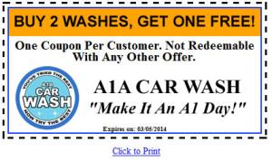 A1A Car Wash Coupon