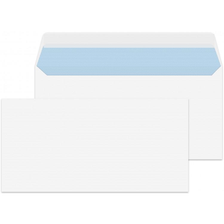 DL/Letter Size White 1000 Premium Envelopes 110mm x 220mm Peel