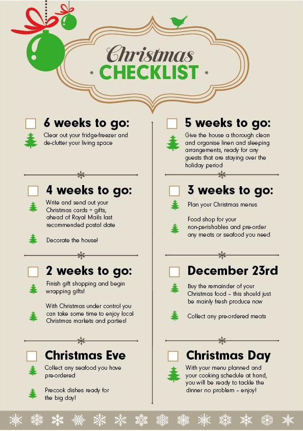 Christmas Checklist The 6 Week Countdown! - Wren Kitchens Blog