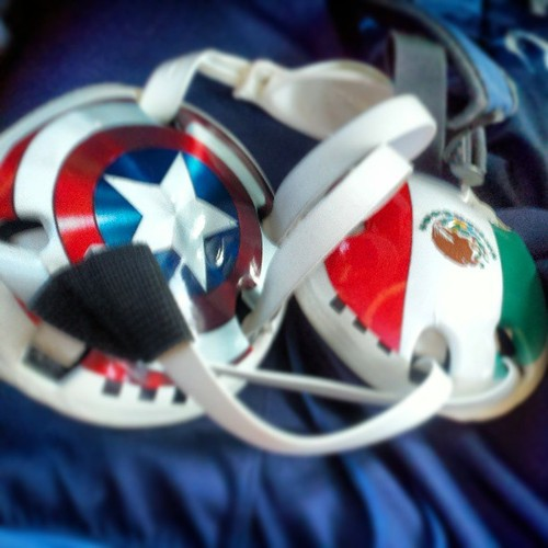 New HeadGear!! #mexican #captain #american #wrestling #headgear ...