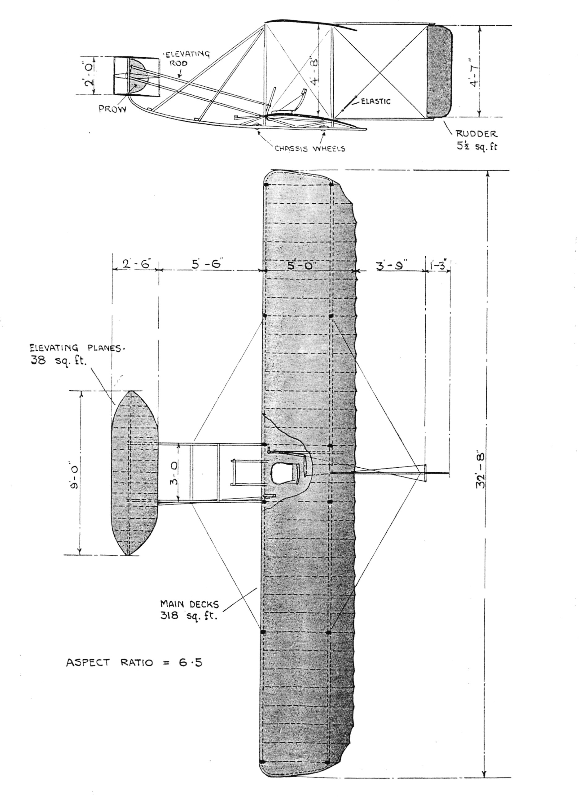 wright brothers diagram