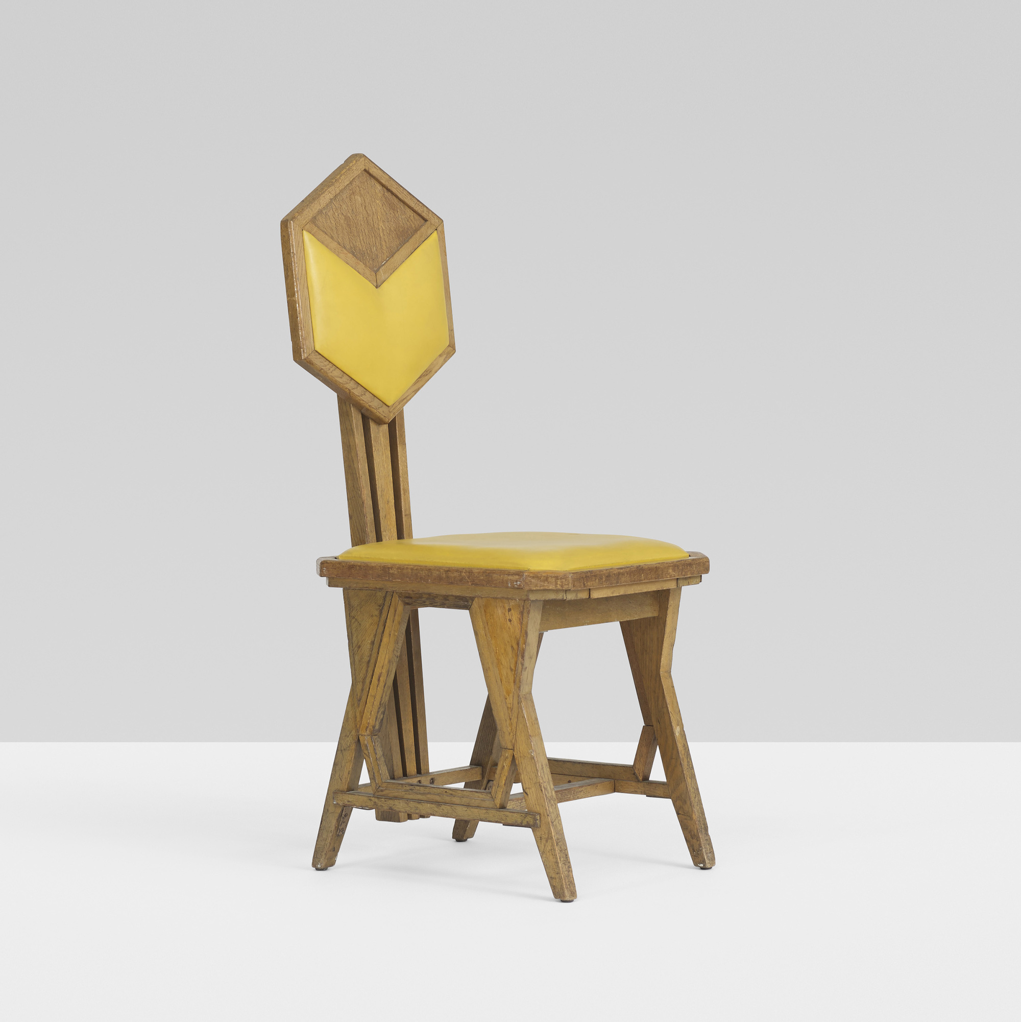 156: FRANK LLOYD WRIGHT, chair from the Imperial Hotel, Tokyo