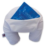 Headache Ice Pillow :: neck pillow with ice pack for