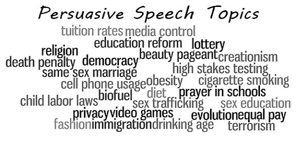 Persuasive Speech Ideas Topic List for Your Next Speaking Event