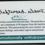 Handwriting slant tells why some people appear cold, emotionless