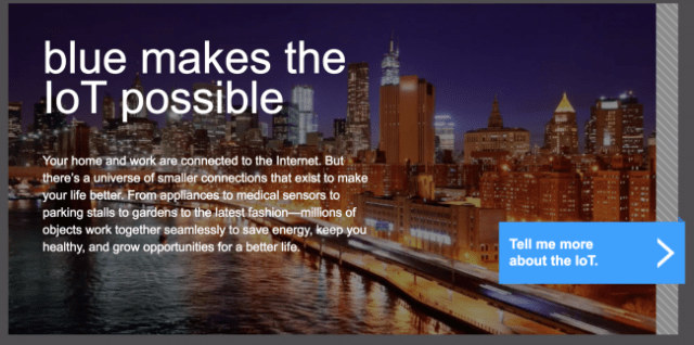 Bluetooth Website blue makes the internet of things possible section