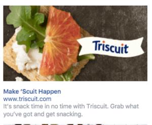 Triscuit Facebook Ad