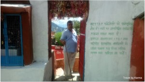 My dad finally makes it to the temple and is happily surprised to know it is a Kali Temple, his favourite Goddess
