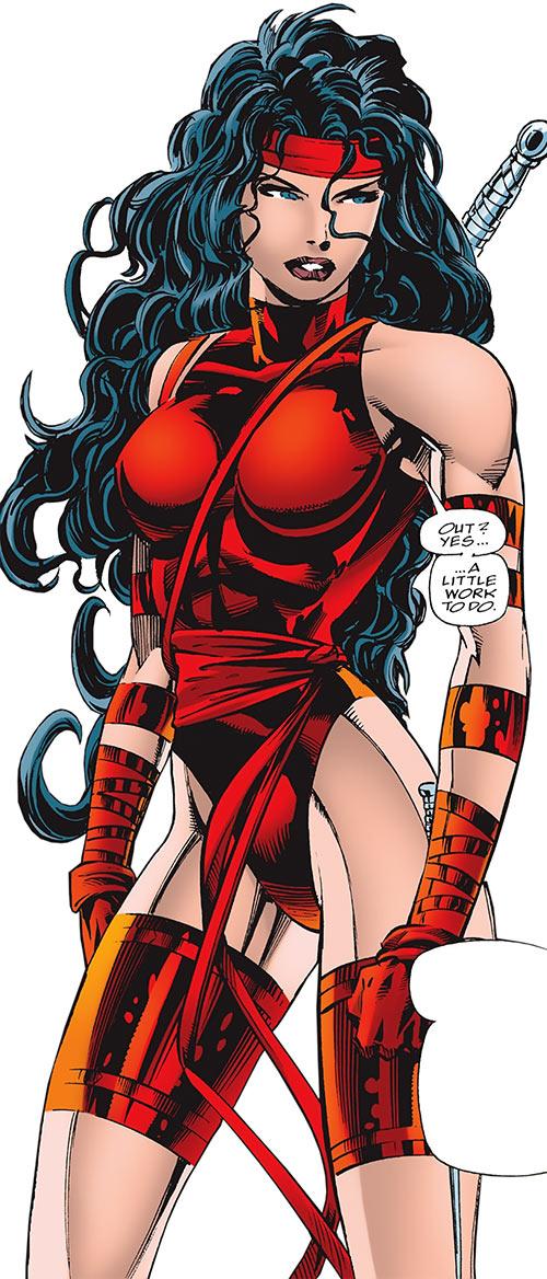 Wallpaper Superhero Marvel 3d Elektra Marvel Comics Daredevil Character The Hand