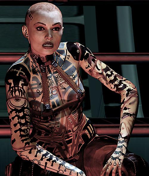 Mass Effect Animated Wallpaper Subject Zero Jack Mass Effect 2 Character Profile