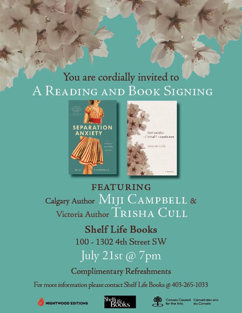 Shelf Life Books Calgary July 2015 Write Where You Are