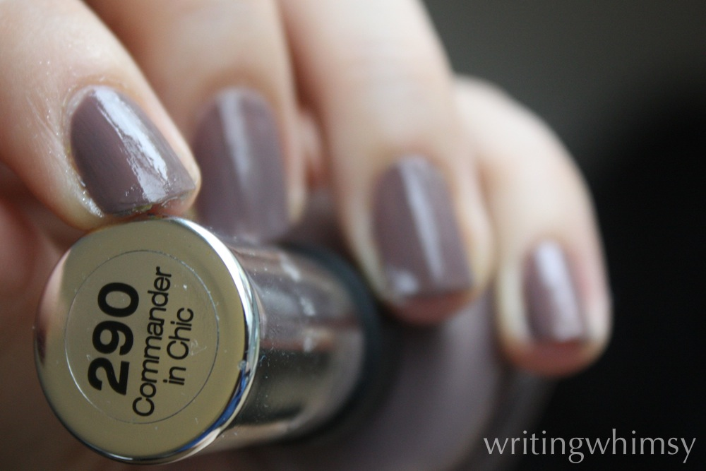 Sally Hansen Commander In Chic Swatch And Review Writing