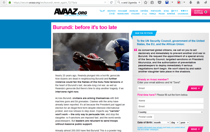 avaaz burundi