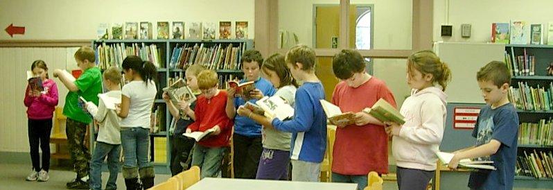 Library - White River School - checkout a book