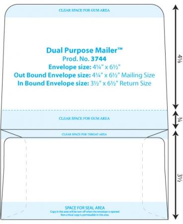 4-1/4 x 6-1/2 Dual Purpose Mailer (Prod 3744) WSEL
