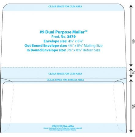Envelope Templates - Collection \ Dual Page Envelope Template WSEL - 4x6 envelope template