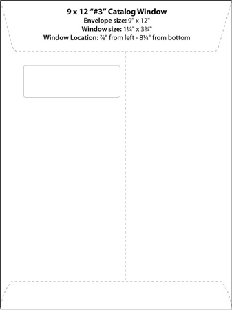 Envelope Templates - Commercial Window Envelope Template WSEL