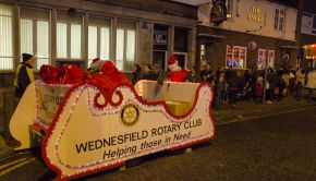 The Rotary club managed to convince Santa to attend yet again!