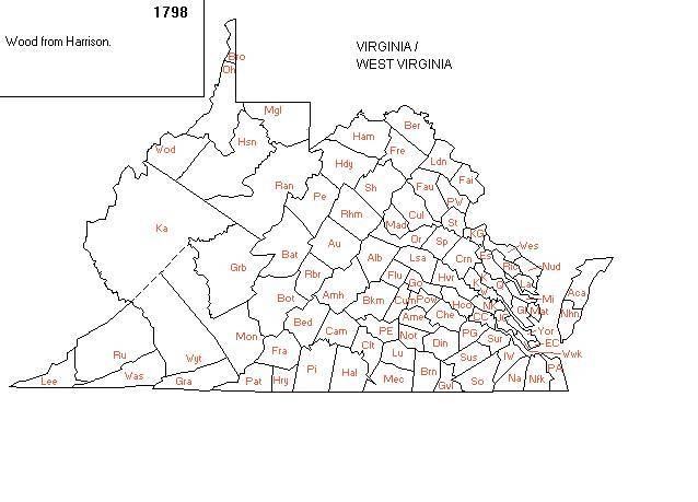 map of counties in virginia