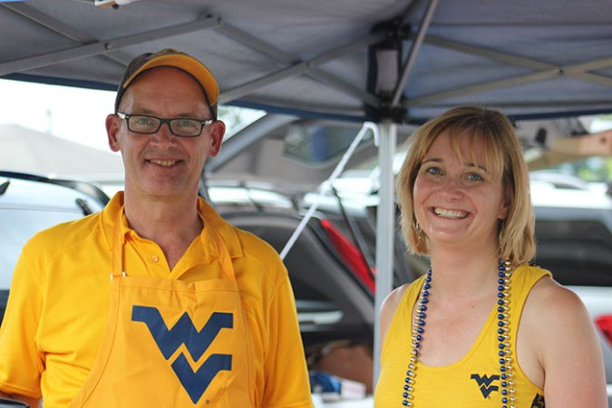 Dave and Andy at first tailgate of season
