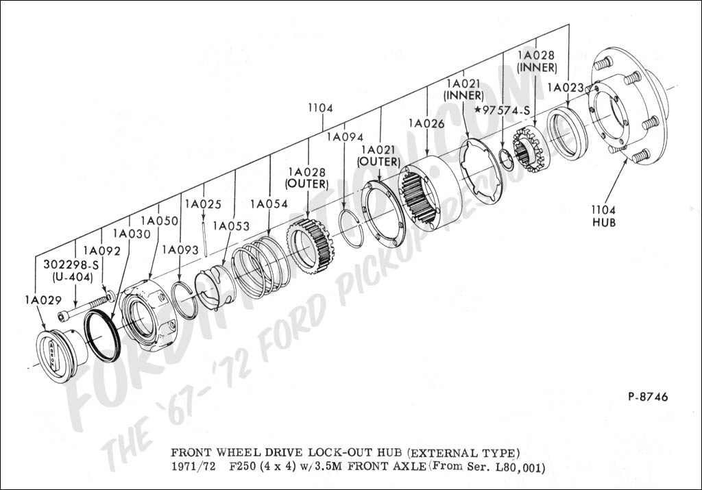 1978 Ford 4x4 Hub Assembly Diagram Online Wiring Diagram