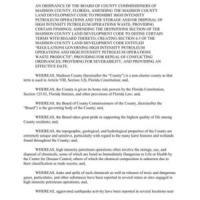 Ordinance Prohibiting Fracking --Madison, FL BOCC 2016-04-27