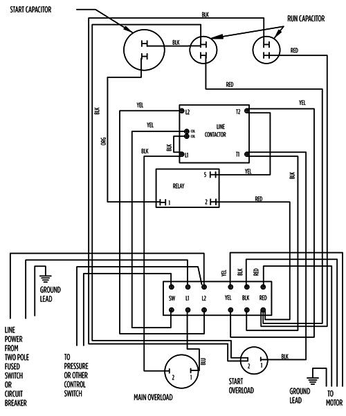 well pressure control switch wiring diagram 230v