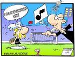 Astrix Naar De Dopingcontrole Voetbal Cartoons Voetbal Nl