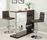 Eve Collection 100166 Bar Height Dining Table Set