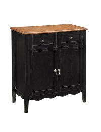 Coaster 101047 Black Accent Cabinet with Wine Rack