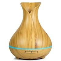 OXYFUL Smart Wooden Ultrasonic Cool Mist Humidifier Aroma