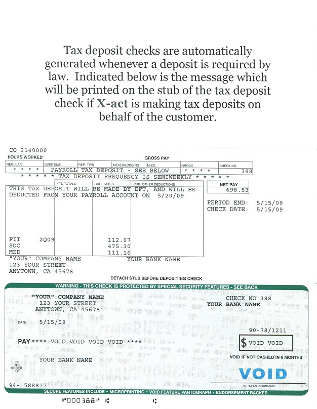 Payroll Service, X-Act Computer Service Sample Payroll - sample pay roll