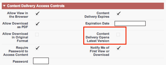 Content Delivery Record Detail View