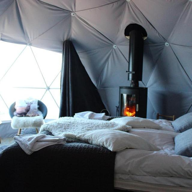 The aurora domes at harrinivaofficial are the ULTIMATE glamping spothellip