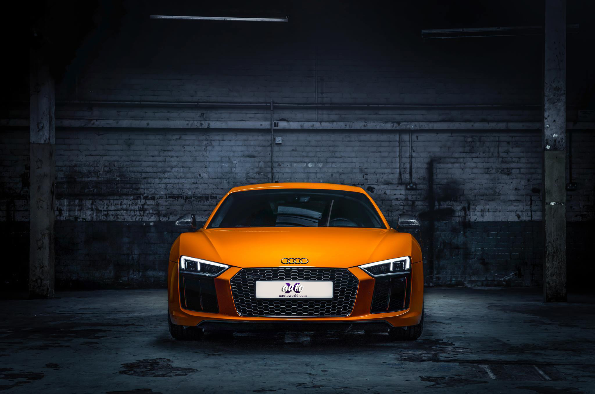 Audi Concept Car Wallpaper Audi R8 Orange Colour Hd Wallpapers X Auto