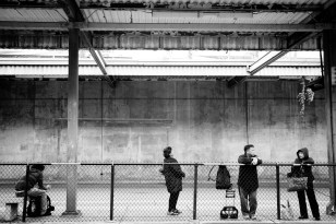 Bus Stop - Black and White