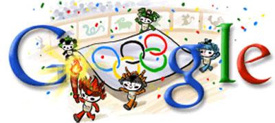 Google logo for Olympic Games Beijing 2008