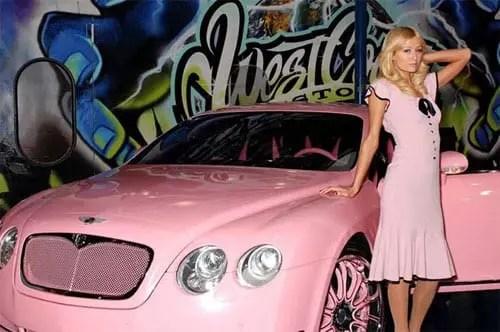 Paris Hilton pink Bentley Continental GT - 5